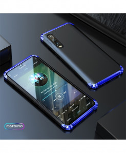 Coku Black Blue Luxury Shockproof Armor Metal Top Phone Cases For Huawei