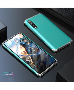 Coku Silver Blue Luxury Shockproof Armor Metal Top Phone Cases For Huawei