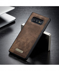CaseMe Brown Magnetic Leather Silicone Back Cover Case For Samsung