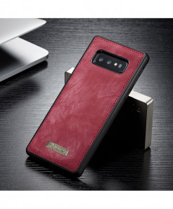 CaseMe Red Magnetic Leather Silicone Back Cover Case For Samsung