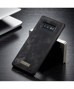 CaseMe Grey Black Magnetic Leather Silicone Back Cover Case For Samsung