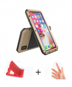 APBLP Golden Heavy Duty Protection Doom Armor Metal Aluminum Phone Case for iPhone