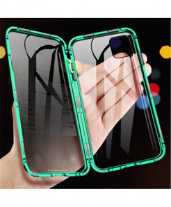 AOSANG Green Magnetic Privacy Screen Protector Phone Case For iPhone