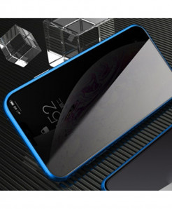 AOSANG Blue Magnetic Privacy Screen Protector Phone Case For iPhone