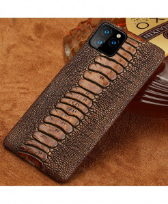 LANGSIDI  Brown Genuine Cowhide Leather Phone Case For Apple iPhone