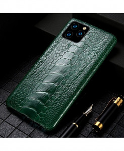 LANGSIDI Green Genuine Ostrich Foot Leather Luxury Cover For Apple iPhone