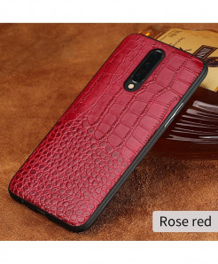LANGSIDI Rose Red Grain Leather Armor Case For Oneplus