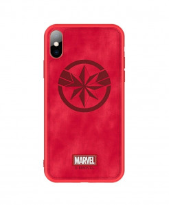 Captain Marvel Logo Back Cover Case