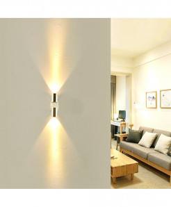 CHINCOLOR Yellow Up & Down Plated Led Wall Lamp