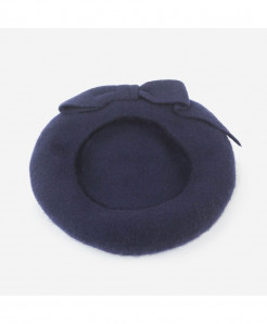 BUTTERMERE Navy Berets Wool Elegant Warm Hat