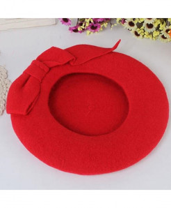 BUTTERMERE Red Berets Wool Elegant Warm Hat