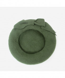 BUTTERMERE Olive Green Berets Wool Elegant Warm Hat
