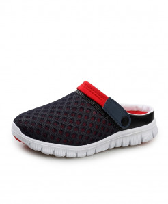 STRONGSHEN Navy Blue Air Mesh Slip-On Covered Slippers