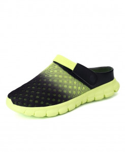 STRONGSHEN Green Air Mesh Slip-On Covered Slippers
