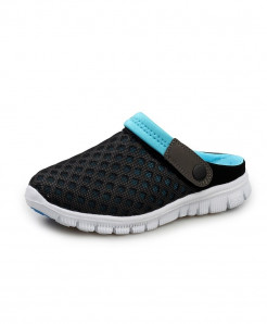 STRONGSHEN Blue Air Mesh Slip-On Covered Slippers