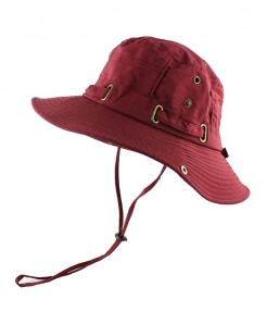CAMOLAND Red Polyester Bucket Hats