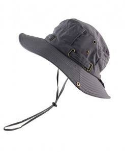 CAMOLAND Gray Polyester Bucket Hats