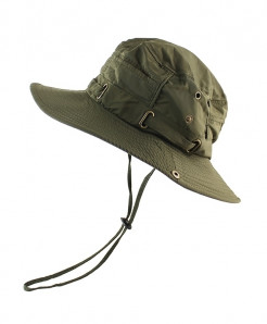 CAMOLAND Green Polyester Bucket Hats