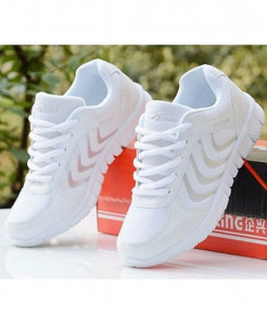 DUOYANG White Dmx Lace-Up Casual shoes