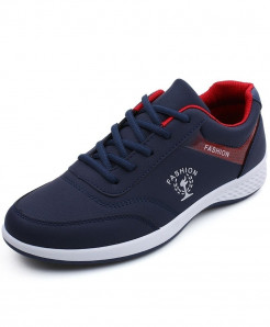 MOSHU Blue Microfiber Synthetic Casual Shoes