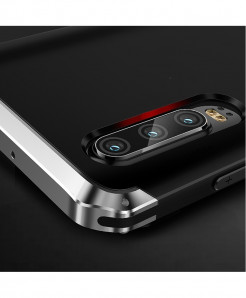 Coku Black Silver Luxury Shockproof Armor Metal Top Phone Cases For Huawei