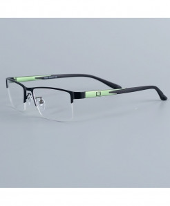 Bellcaca Black Green Stainless Steel Spectacle Optical Frame