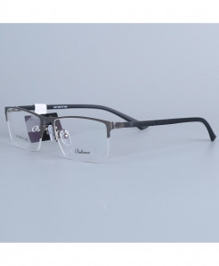 Bellcaca Gun-Gray Stainless Steel Spectacle Optical Frame