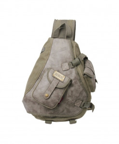 AERLIS Army Green Satchels Canvas Leather Pack Bag