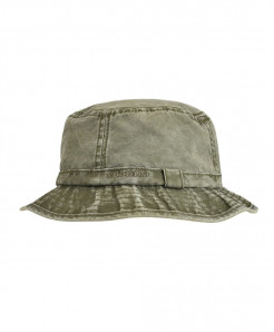 VOBOOM Green Washed Cotton Solid Hats