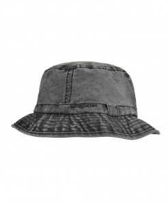 VOBOOM Black Washed Cotton Solid Hats
