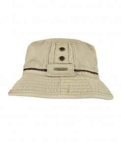 VOBOOM Khaki Cotton Solid Bucket Hats