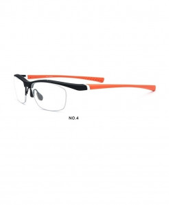 MOLNIYAB Black Orange Titanium Solid TR90 Optical Frames