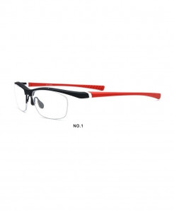 MOLNIYA Black Red Titanium Solid TR90 Optical Frames