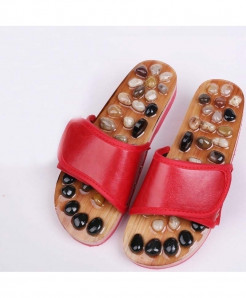 HANRIVER Reb brown pebbles massage slippers