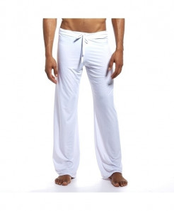 JOCKMAIL White Spandex Straight Midweight Pants