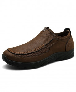 PUAMSS Dark Brown Solid None Pu Basic Casual Shoes