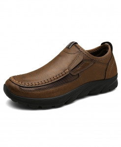 PUAMSS Brown Solid None Pu Basic Casual Shoes