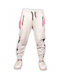 Light Grey Red Stripe Close Bottom Jogging Trousers
