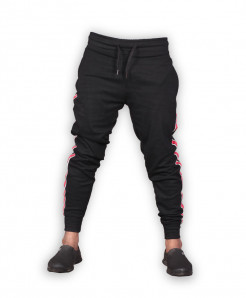 Black Red Stripe Close Bottom Jogging Trousers