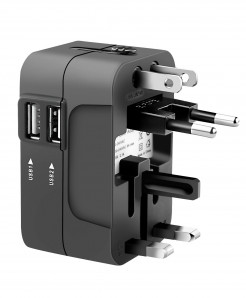 Universal All in One Phone Charger Adapter with Dual USB Charging Ports