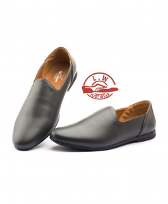 Black Plain Stylish Slip On Loafers LW-4557