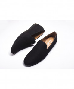 Black Plain Stylish Breathable Loafers LW-4549