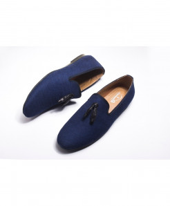 Dark Blue Breathable Loafers LW-4547