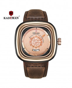 Kademan Rose Stainless Steel Square Watch