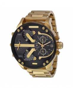 Ishowtienda Golden Black Stainless Steel Bracelet Clasp Watch