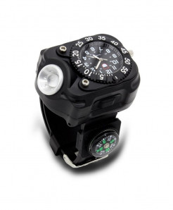 Aotu Black Light compass Aluminum Watch