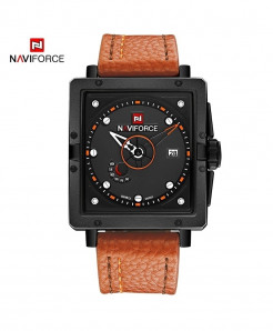 Naviforce Orange Square Alloy Casual Watch