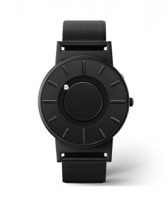 Eutour Black Stainless Steel Hook Buckle Watch