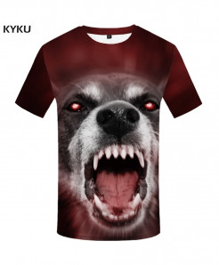 KYKU Wolf Spandex Polyester O-Neck 3d T-Shirt