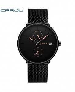 Crrju Rose Golden Alloy Stainless Steel Round Watch